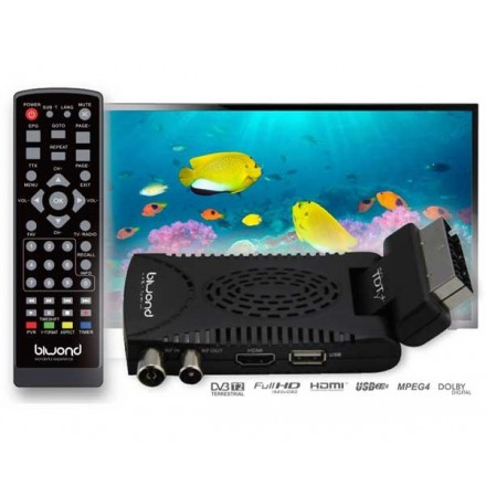 TDT MINI SCART HD DVB-T2 / HDMI / REPRODUCTOR USB