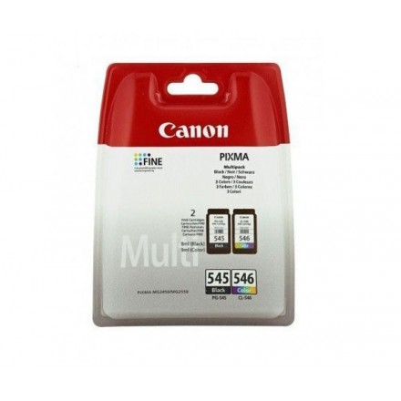 INKJET ORIG. CANON PACK PG545 + CL546 / NEGRO + COLOR...