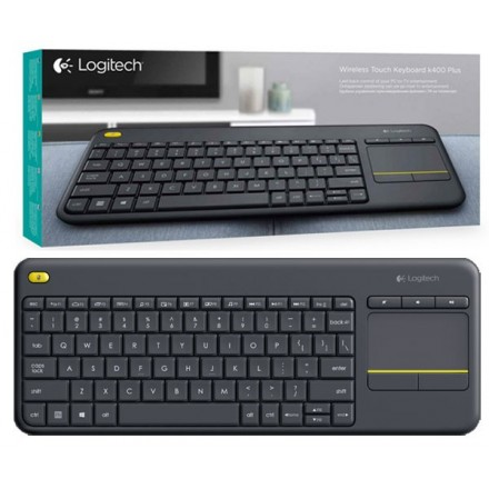 TECLADO + TOUCHPAD INALAMBRICO LOGITECH K400 PLUS NEGRO / TV