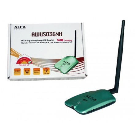 ADAPTADOR WIFI USB ALFA NETWORK AWUS036NH 150MBPS...