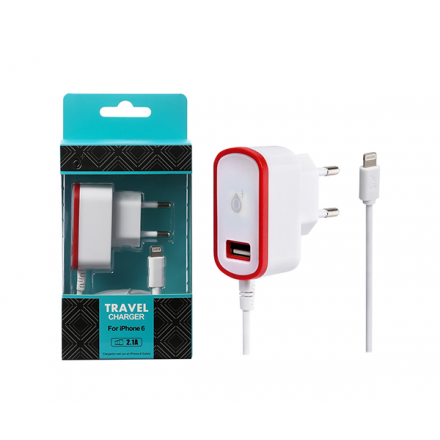 CARGADOR RED CA103 IPHONE 5/6 + TOMA USB EXTRA 2.1A ROJO...