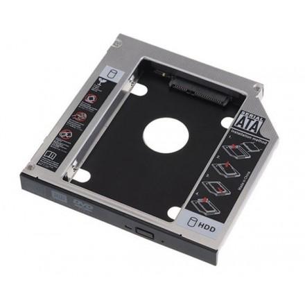ADAPTADOR ALUMINIO HDD/SSD 7MM A PORTATIL DE 9.5MM