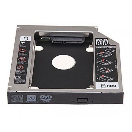 ADAPTADOR ALUMINIO HDD/SSD PORTATIL DE 12.7MM