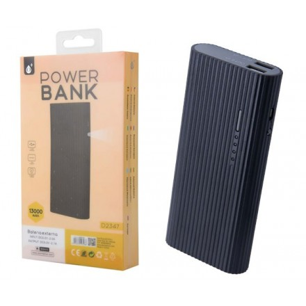 POWER BANK VALEN D2347 13000MAH 2XUSB 2.4A / LINTERNA /...