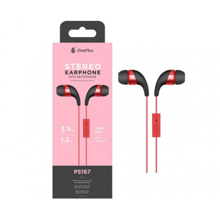 AURICULARES + MICRO P5167 WINGS ROJO ONE+