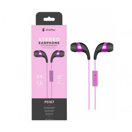 AURICULARES + MICRO P5167 WINGS MORADO ONE+