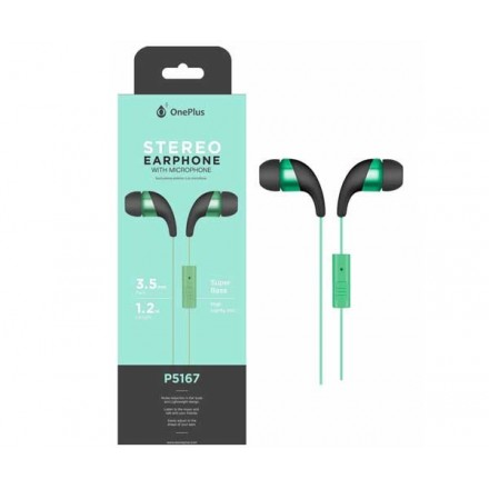 AURICULARES + MICRO P5167 WINGS VERDE ONE+