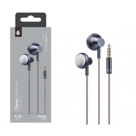 AURICULARES + MICRO METAL POCKY P5176 NEGRO ONE+