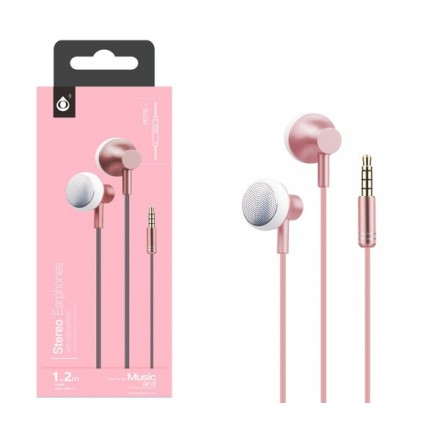 AURICULARES + MICRO METAL POCKY P5176 ROSA ONE+