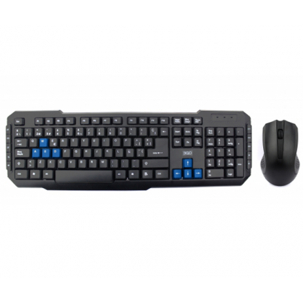 COMBO TECLADO + RATON CABLE USB DRILE NEGRO 3GO MULTIMEDIA