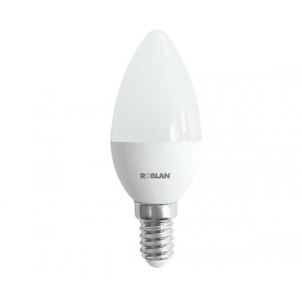 BOMBILLA LED ROBLAN E14 VELA / 5W / LUZ DIA / 6500K /...