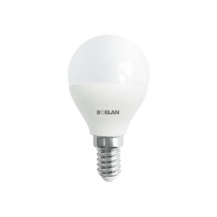 BOMBILLA LED ROBLAN E14 ESFERICA / 5W / LUZ DIA / 6500K /...