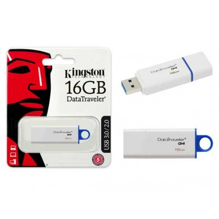 PENDRIVE KINGSTON DTI G4 16GB USB 3.0 BLANCO / AZUL CANON...