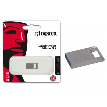 PENDRIVE KINGSTON MICRO FIT DTMC3 32GB USB 3.1 METALICO...