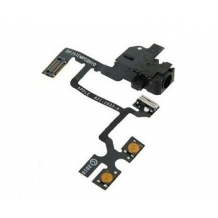 CABLE FLEX VOLUMEN IPHONE 4 NEGRO