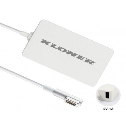 CARGADOR PORT. APPLE MAGSAFE 1 60W 16.5V 3.65A PIN...