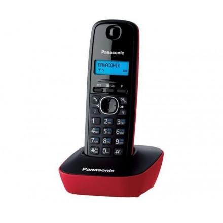 TELEFONO INALAMBRICO PANASONIC KX-TG1611 NEGRO / ROJO