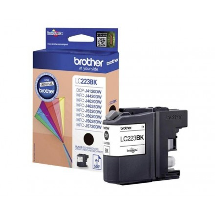 INKJET ORIG. BROTHER LC223 NEGRO (550 PAG)