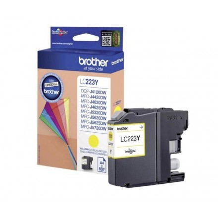 INKJET ORIG. BROTHER LC223 AMARILLO (550 PAG)
