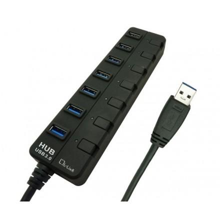 HUB 7 PUERTOS USB 3.0 CON ALIMENTACION L-LINK  LL-UH-307