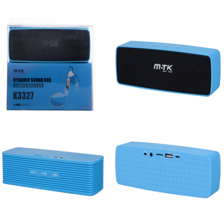 ALTAVOZ K3327 AZUL BLUETOOTH MSD/FM/USB ONE+