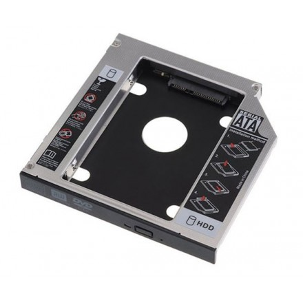 ADAPTADOR ALUMINIO HDD/SSD 7MM A PORTATIL DE 9.5MM GEMBIRD
