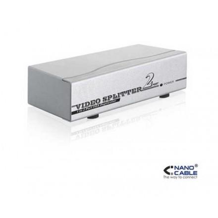 SPLITTER VGA 2 MONITORES X 1 PC CON ALIMENTACION 10.25.0002