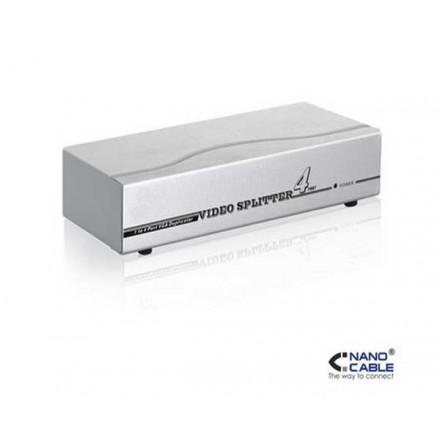 SPLITTER VGA 4 MONITORES X 1 PC CON ALIMENTACION