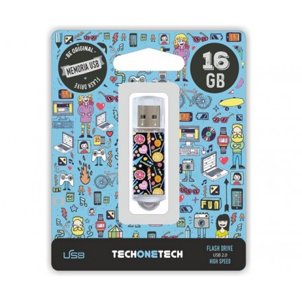 PENDRIVE ANIMADO USB 2.0 16GB - CANDY POP CANON LPI INCLUIDO