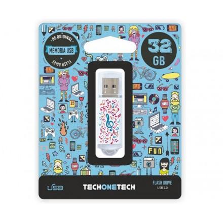 PENDRIVE ANIMADO USB 2.0 32GB - MUSIC DREAM CANON LPI...