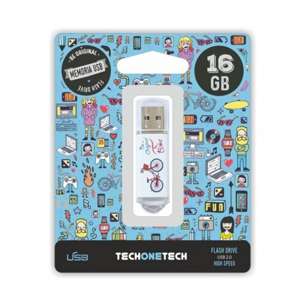 PENDRIVE ANIMADO USB 2.0 16GB - BE BIKE CANON LPI INCLUIDO