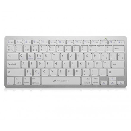 TECLADO SLIM BLUETOOTH PHOENIX BTKEYBOARDW PLATA WINDOWS...