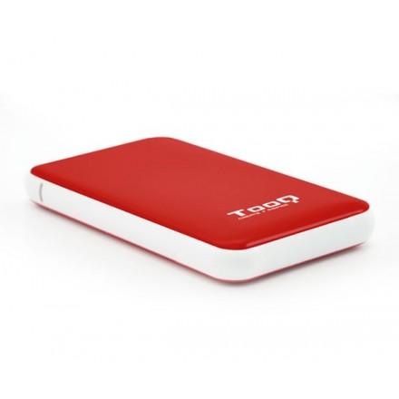 CAJA EXTERNA 2.5 USB 3.1 GEN1 SATA TOOQ / ROJO / 9.5MM /...