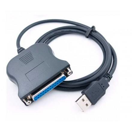 CABLE ADAPTADOR DE USB A PARALELO 25 PINES HEMBRA 1.8M...