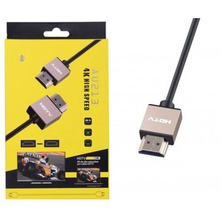 CABLE HDMI 2.0  4K EXTRA PLANO 1.5M ORO  AU213