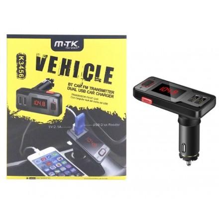 TRANSMISOR FM BLUETOOTH/ USB / MICROSD/ JACK+ USB DE...