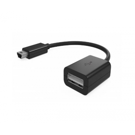 CABLE OTG MINI USB MACHO A USB HEMBRA 12CM