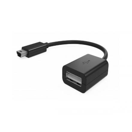 CABLE OTG MINI USB MACHO A USB HEMBRA 12CM