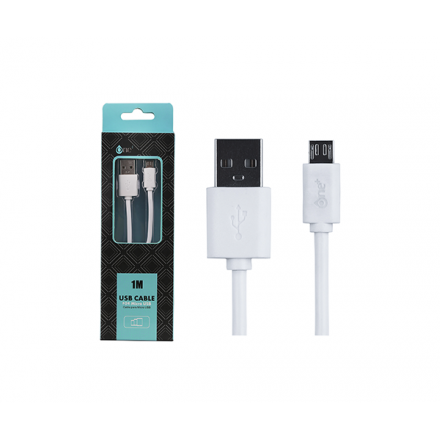 CABLE USB A MICRO USB 1M BLANCO AS100 ONE+