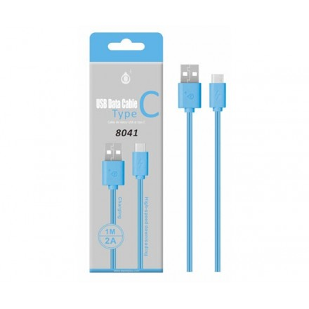 CABLE DATOS USB 2.0 A TYPE-C AZUL 1M ONE+ 8041
