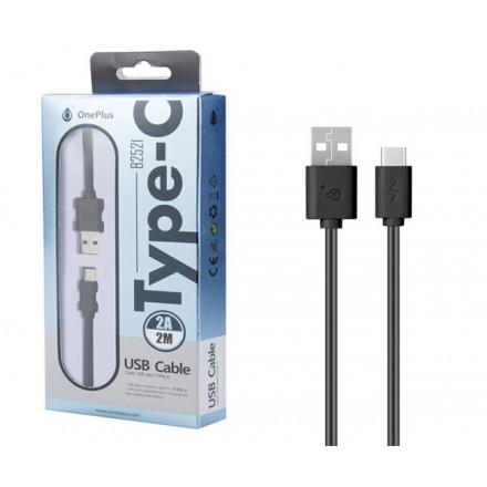CABLE DATOS USB 2.0 A TYPE-C  2A / 2 METROS / B2521 /...