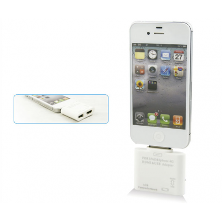 ADAPTADOR HDMI PARA IPOD/ IPAD 2 / IPAD 3 / IPHONE4  USB