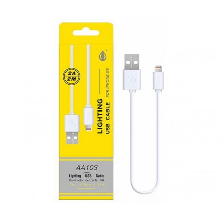 CABLE DATOS IPHONE 5/6/7 ALTA CALIDAD 2M ONE+  AA103