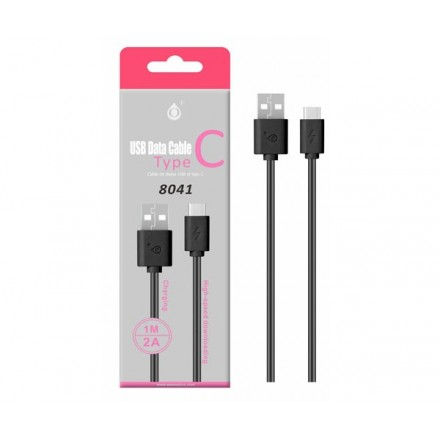 CABLE DATOS USB 2.0 A TYPE-C NEGRO 1M ONE+ 8041