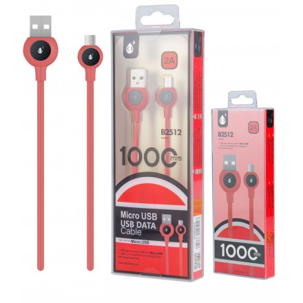 CABLE USB A MICRO USB BALL 1M ROJO B2512 ONE+