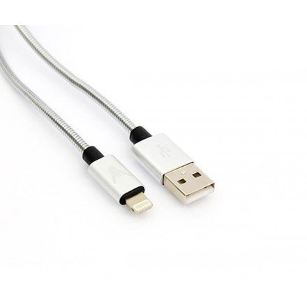 CABLE DATOS IPHONE 5/6/7 METALICO LEADERINMY 1M  LMY13