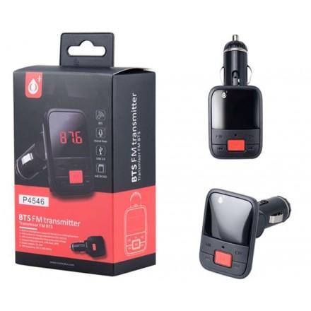 TRANSMISOR FM BLUETOOTH P4546/ USB / MICROSD/ JACK