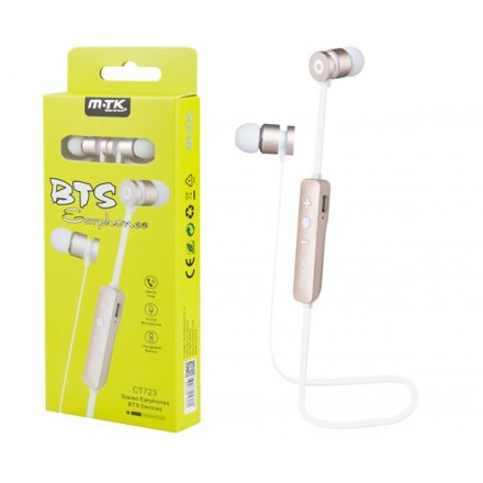 AURICULARES BLUETOOTH SPORT SYMPHONY CT723 ORO MTK