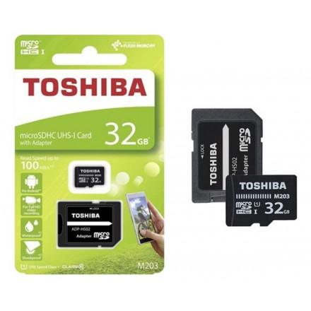 MICRO SD TOSHIBA 32GB UHS-I M203 CLASE 10 CON ADAPTADOR /...